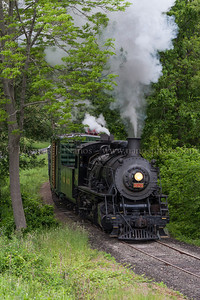 Lerro Productions Valley RR Charter May 2012 No 3025 approaches Broadway