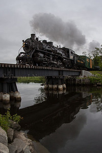 Lerro Productions Valley RR Charter May 2012 Crossing over Deep River Creek on the Deep River/Chester town line