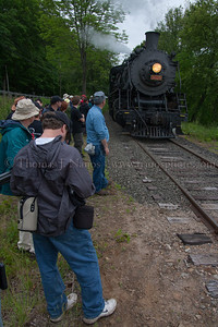 Lerro Productions Valley RR Charter May 2012 Participants waiting to board the train for the next stop
