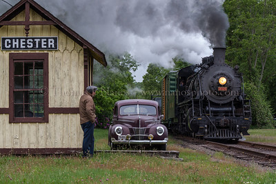 Lerro Productions Valley RR Charter May 2012 Runby at Chester with an actor and period car