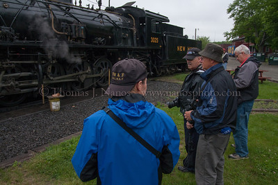 Lerro Productions Valley RR Charter May 2012 Participants discuss the day's coming events