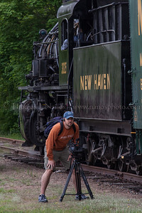 Lerro Productions Valley RR Charter May 2012 Videographer getting footage
