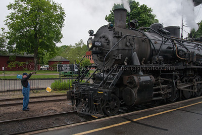 Lerro Productions Valley RR Charter May 2012 Brian moving 3025 in for a hitch for the run north