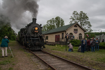 Lerro Productions Valley RR Charter May 2012 The first runby of the day at Goodspeed