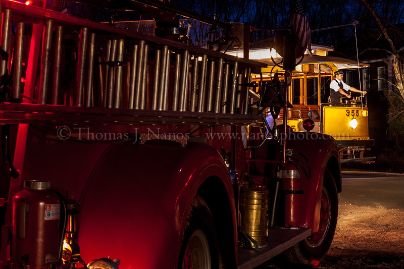 Trolley and Fire Engine