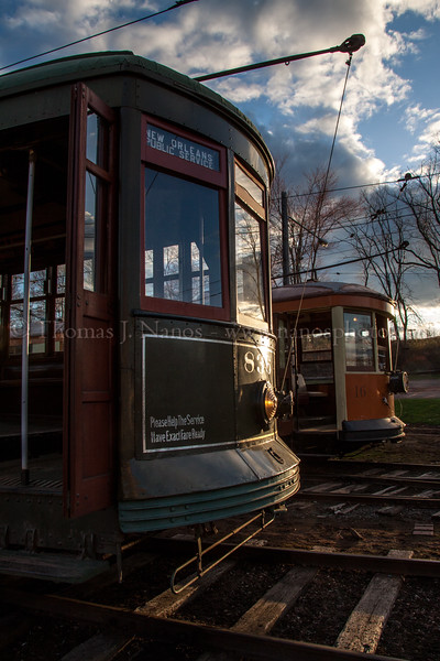 Trolleys in the Sunset