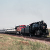 BNSF Employee Appreciation Special led by former Frisco RR 4-8-2 1522.  Haslet, TX, 5-27-2001.