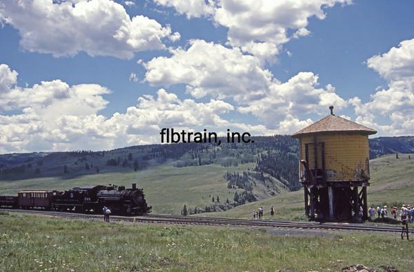 CT1988070056 - Cumbres & Toltec, Osier, CO, 7-1988