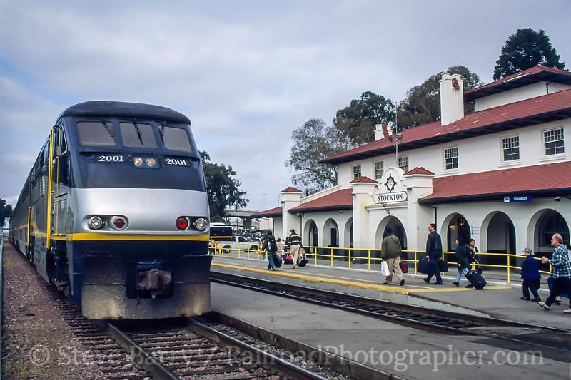 Amtrak; Stockton CA; 3/2000
