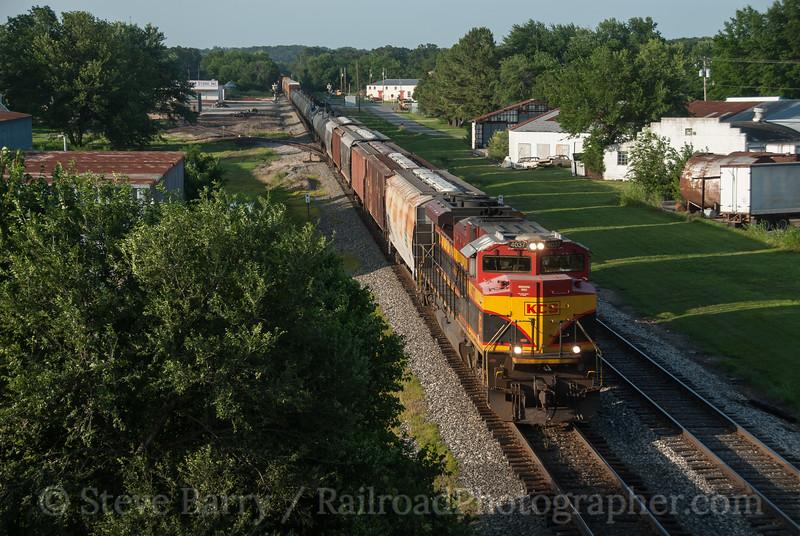 Photo 3183<br /> Kansas City Southern; Gentry, Arkansas<br /> June 16, 2014