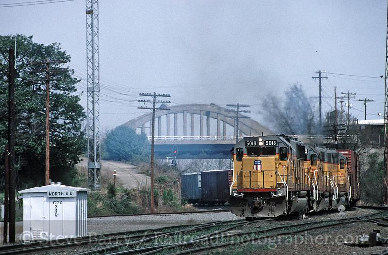 Photo 1825<br /> Union Pacific; Little Rock, Arkansas<br /> March 28, 1993