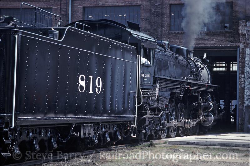 Photo 1828<br /> St. Louis Southwestern (Cotton Belt) 819; Pine Bluff, Arkansas<br /> March 27, 1993