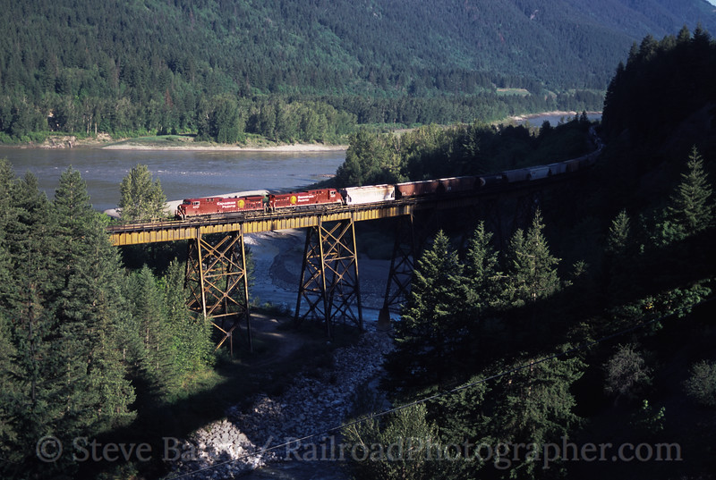 Photo 0152<br /> Canadian Pacific (on Canadian National); Anderson Creek Bridge, Boston Bar, British Columbia<br /> May 12, 2004