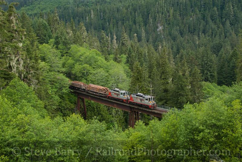 Photo 2087<br /> Englewood Railway; East Fork, Beaver Cove, British Columbia<br /> June 14, 2011