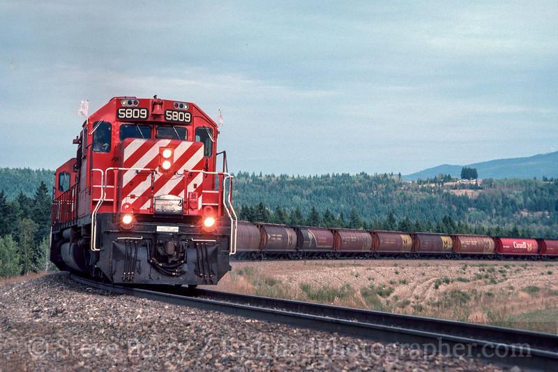 Photo 2974<br /> CP Rail; Notch Hill, British Columbia<br /> September 1988