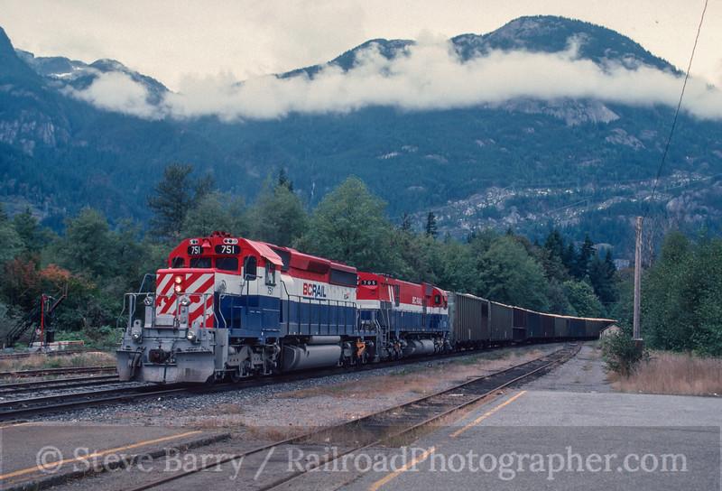 Photo 2941<br /> BC Rail; Squamish, British Columbia<br /> September 1988