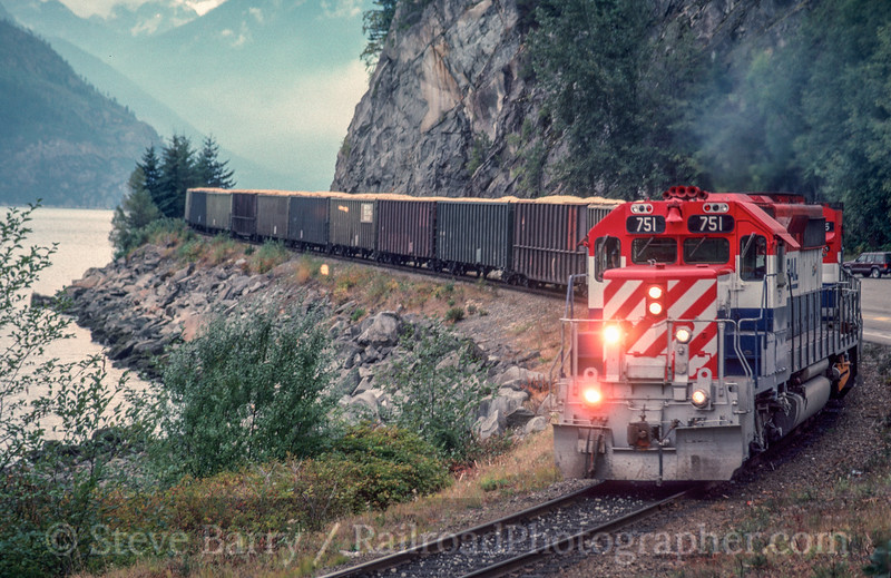 Photo 2957<br /> BC Rail; Porteau, British Columbia<br /> September 1988