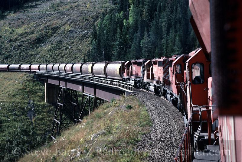 Photo 0532<br /> CP Rail; Mountain Creek Bridge, Rogers, British Columbia<br /> September 1988