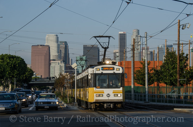 Photo 3094 Metro Rail; West Washington & Flower, Los Angeles, California March 4, 2014