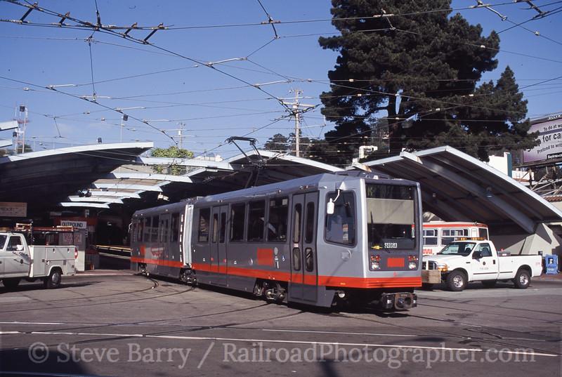 Photo 2066<br /> MUNI; West Portal, San Francisco, California<br /> March 2001