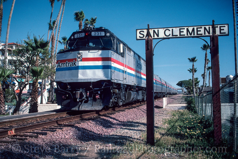 Photo 2999<br /> Amtrak; San Clemente, California<br /> May 1991