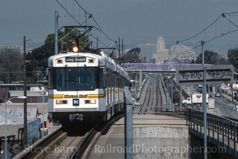 Photo 4176<br /> Metro Rail; Slauson Station, Los Angeles, California<br /> March 2002
