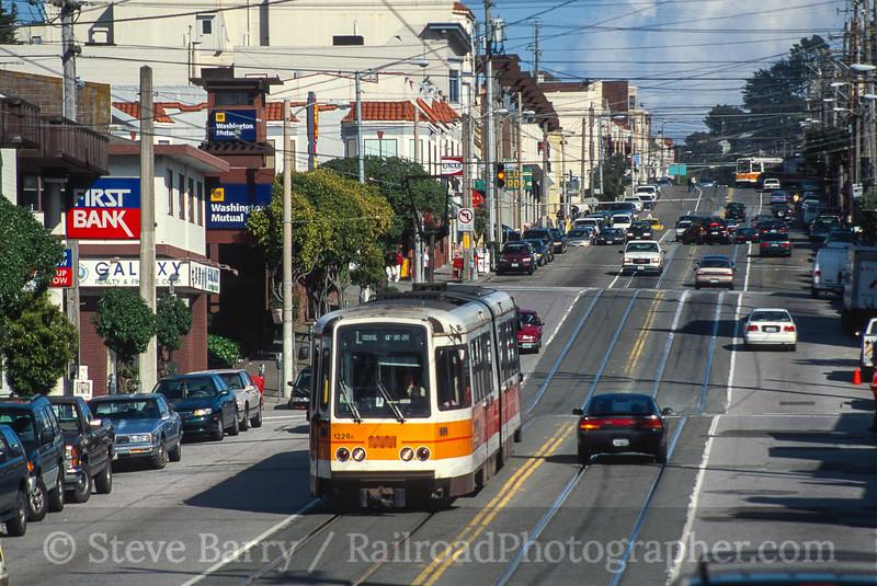 Photo 3664<br /> Muni; 20th & Taraval, San Francisco, California<br /> March 2001