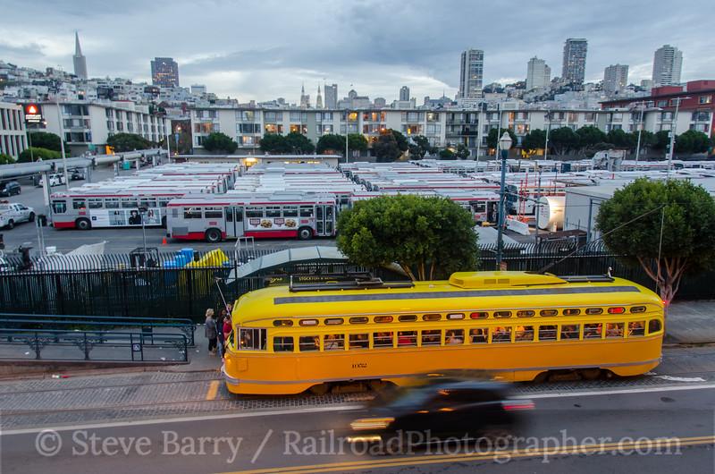 Photo 3111<br /> Muni; Pier 39, San Francisco, California<br /> March 9, 2014