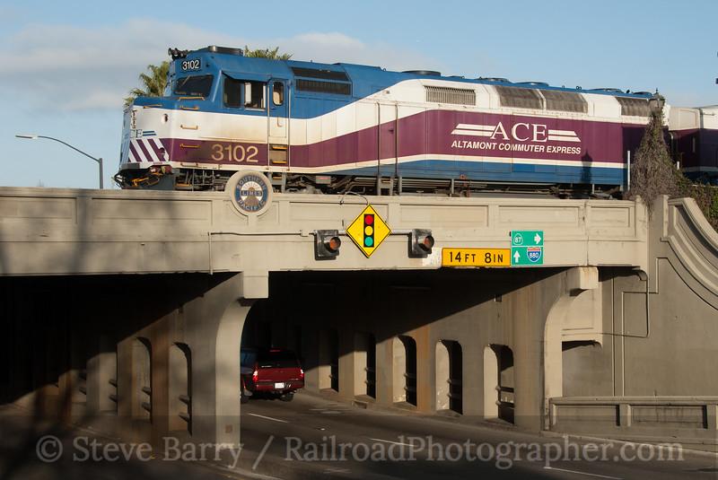 Photo 2025<br /> Altamont Commuter Express; San Jose, California<br /> March 11, 2011