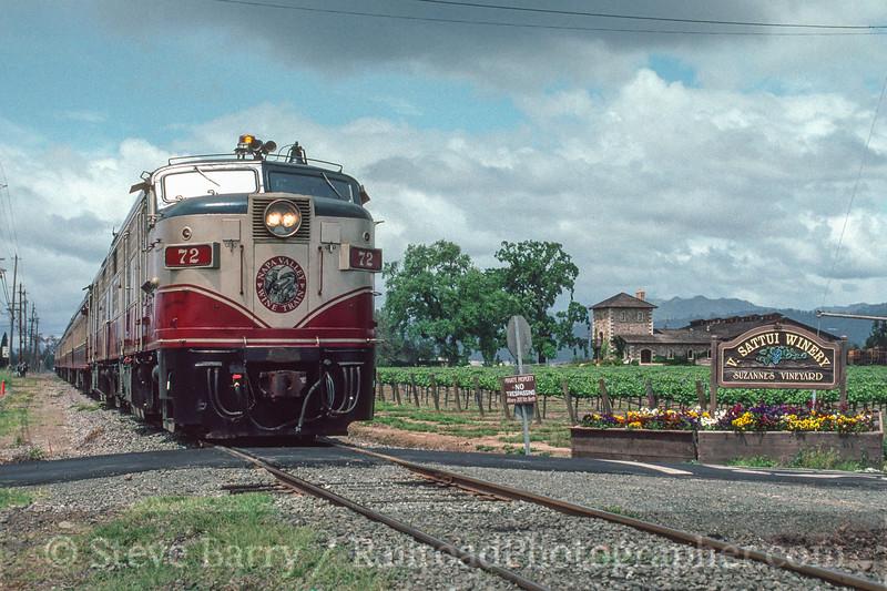 Photo 2945<br /> Napa Valley Wine Train; Zinfadel, California<br /> May 1991