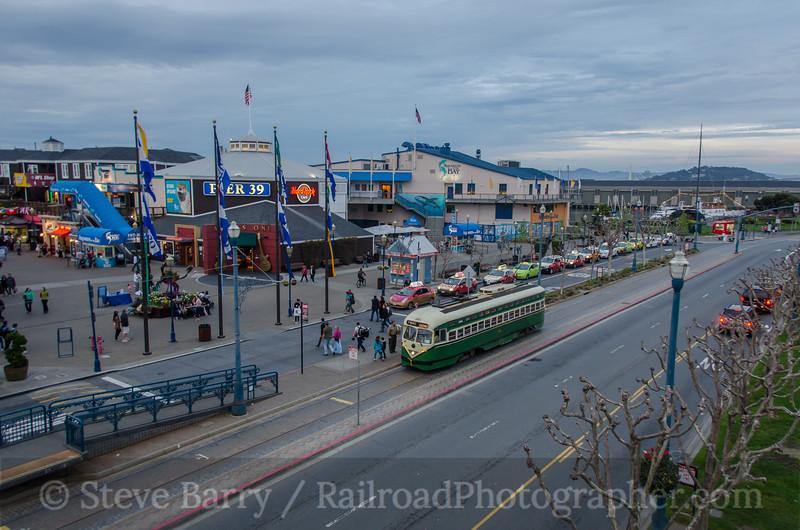 Photo 3110<br /> Muni; Pier 39, San Francisco, California<br /> March 9, 2014