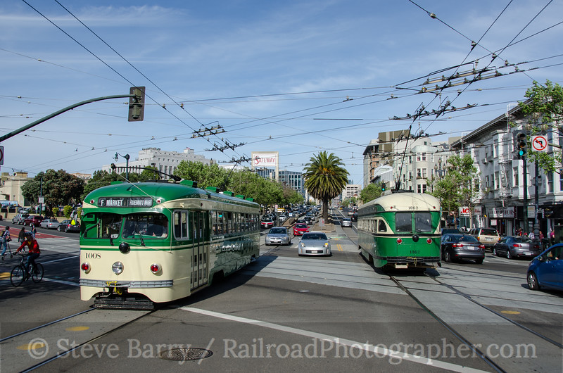 Photo 3336<br /> Muni; Market & Church, San Francisco, California<br /> March 15, 2015