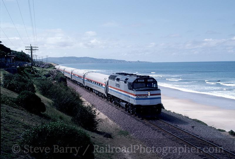Photo 1575<br /> Amtrak; Delmar, California<br /> May 1991