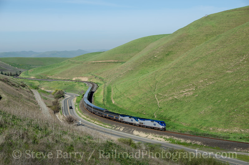 Photo 2637<br /> Amtrak; Altamont Pass, California<br /> March 13, 2013
