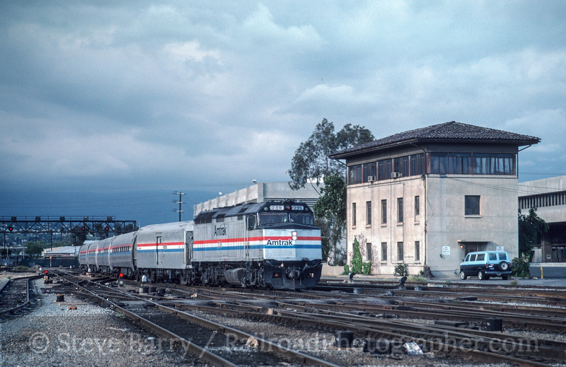 Photo 2955<br /> Amtrak; Terminal Tower, Los Angeles, California<br /> May 1991
