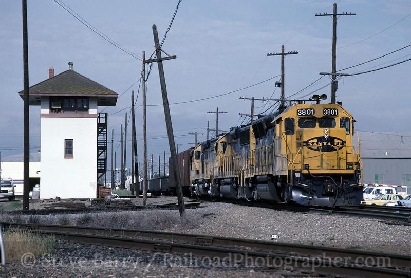 Photo 1574<br /> Atchison, Topeka & Santa Fe; Stockton, California<br /> May 1991
