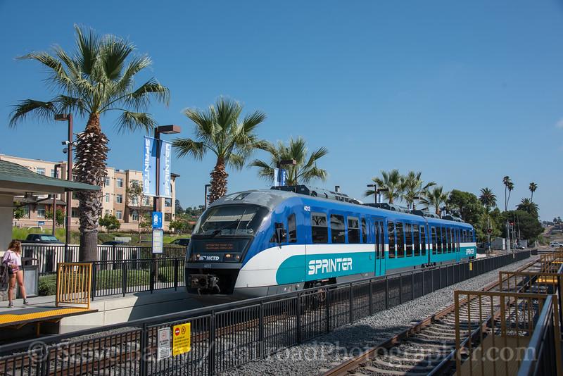 Photo 4316<br /> Sprinter (NCTD)<br /> Vista Transit Center, Vista, California<br /> September 18, 2017