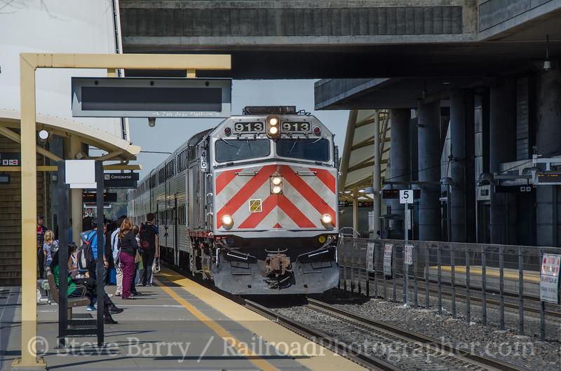 Photo 3330<br /> Caltrain; Millbrae, California<br /> March 12, 2015