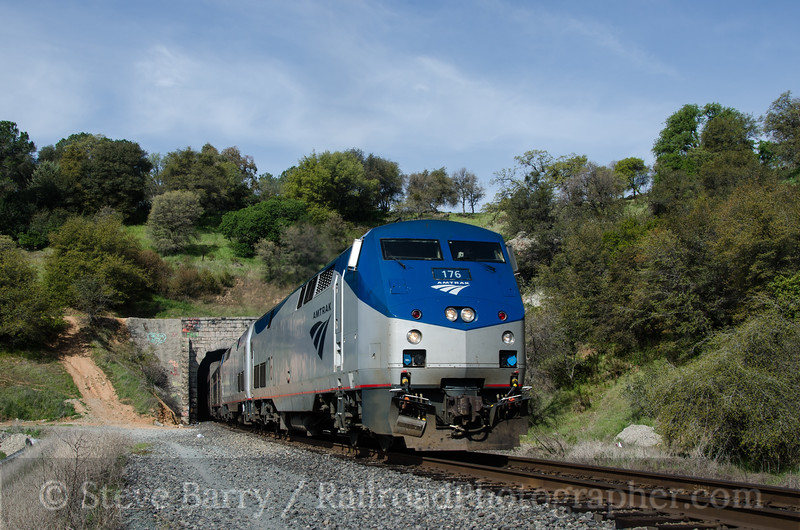 Photo 2617<br /> Amtrak; Tunnel 17, Penryn, California<br /> March 10, 2013
