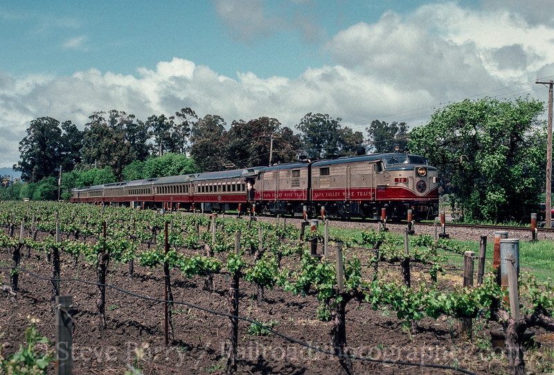 Photo 2124<br /> Napa Valley Wine Train; Oakville, California<br /> May 1991