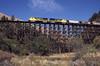 Photo 1567<br /> Camas Prairie RailNet; Rock Creek Trestle, Culdesac, Idaho<br /> September 2000