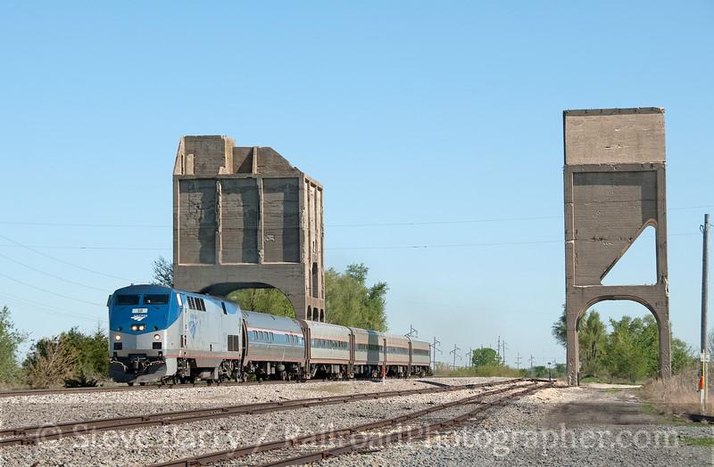 Photo 1861<br /> Amtrak; Gilman, Illinois<br /> April 28, 2010