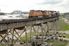 Photo 1211<br /> BNSF Railway (on New Orleans Public Belt); Huey P. Long Bridge, New Orleans, Louisiana<br /> June 11, 2008