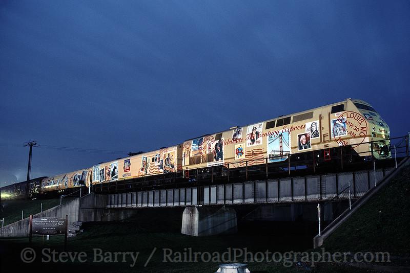 Photo 1195<br /> Amtrak Postal Train; Cumberland, Maryland