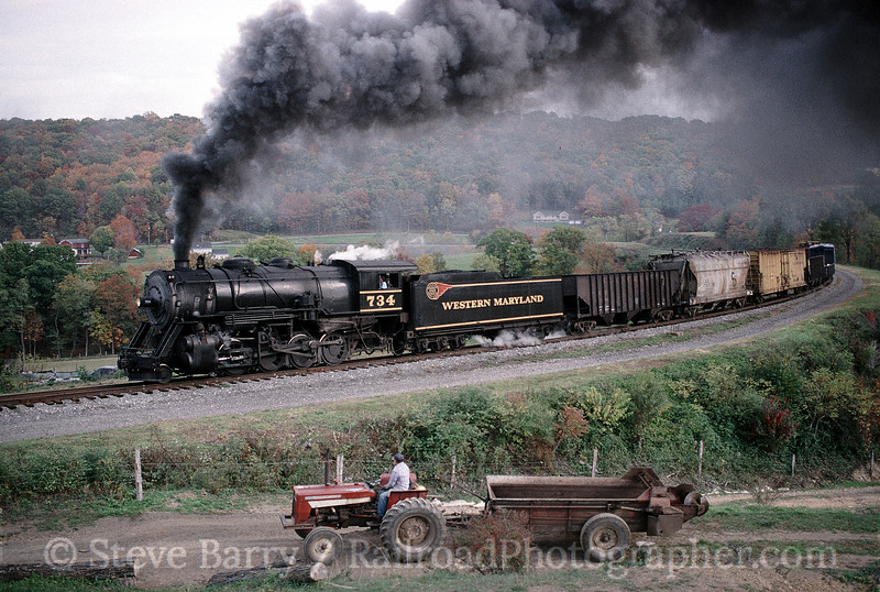 Photo 0670<br /> Western Maryland Scenic; Helmstetter's Curve, Cumberland, Maryland<br /> October 19, 1999