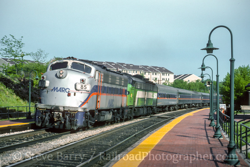 Photo 4592<br /> Maryland Area Rail Commuter<br /> Germantown, Maryland<br /> April 1994