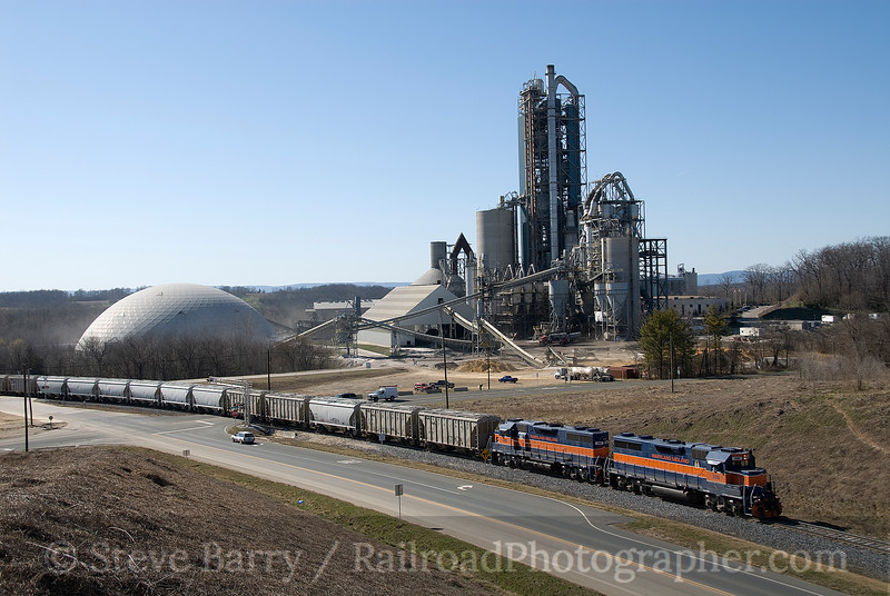 Photo 1449<br /> Maryland Midland; Lehigh Cement, Union Bridge, Maryland<br /> March 23, 2009