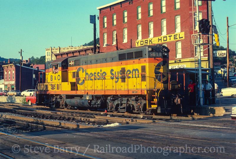 Photo 4114<br /> Chessie System; Cumberland, Maryland<br /> September 1980