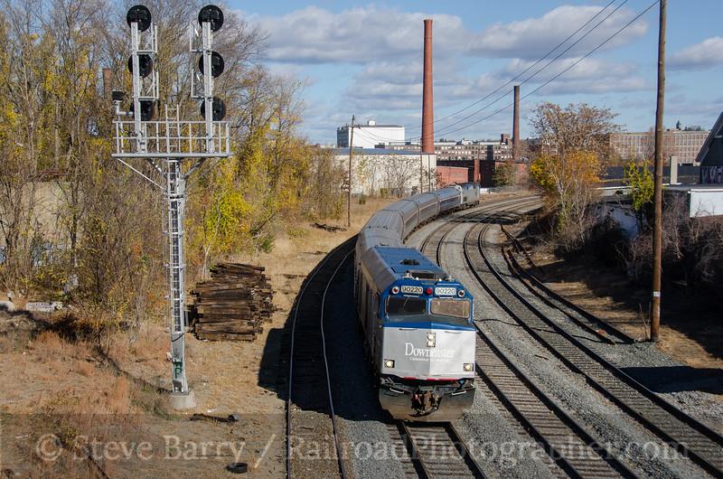 Photo 3577<br /> Amtrak; Lawrence, Massachusetts<br /> November 8, 2015