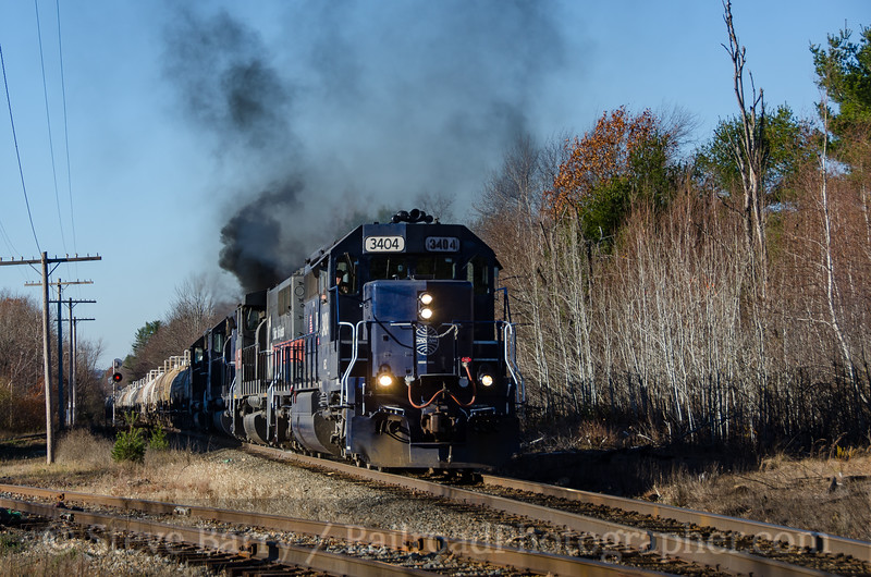 Photo 4001<br /> Pan Am Railways; Otter River, Massachusetts<br /> November 13, 2016